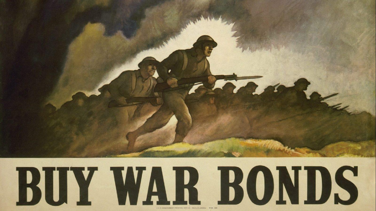 A poster advertising war bonds.