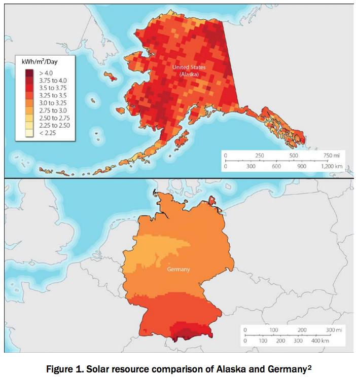 Alaska/Germany solar comparison