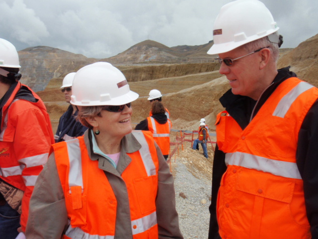 Sister Daly at the Numont Mine in Peru.
