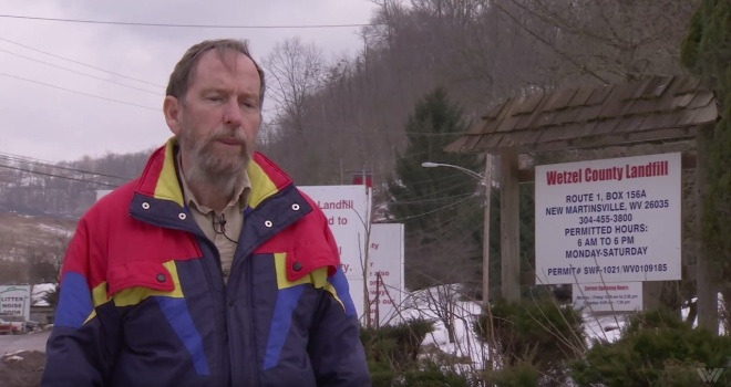 Bill Hughes, chairman of the Wetzel County Solid Waste Authority, speaks about radioactive waste handling at Wetzel County Landfill in West Virginia.