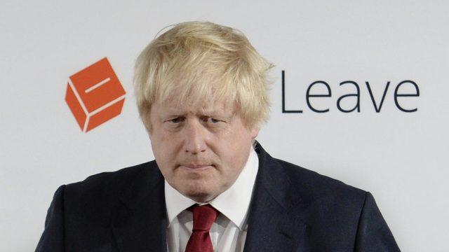 Vote Leave campaign leader Boris Johnson prepares to speak at the group's headquarters in London, Britain June 24, 2016.
