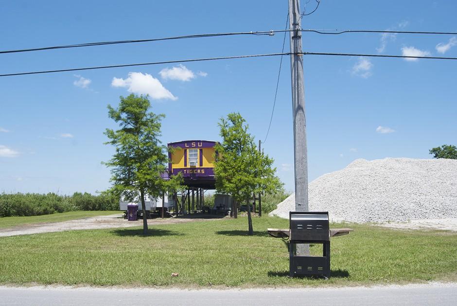 End of Route 46 near Hopedale, Louisiana.