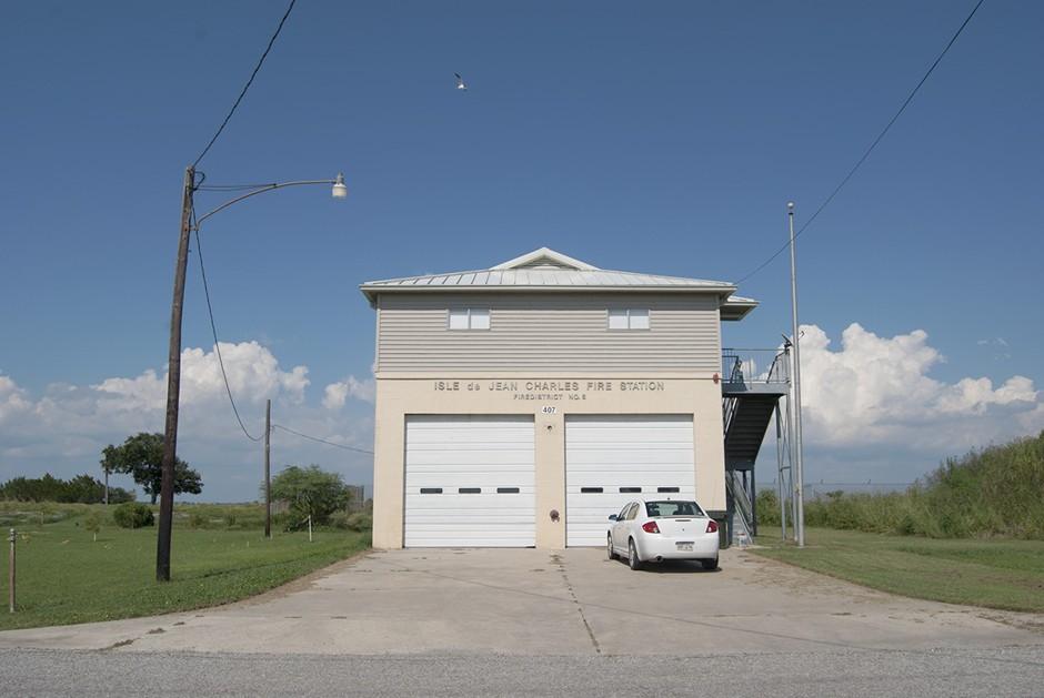 Isle de Jean Charles Fire Station, Island Road, Louisiana.
