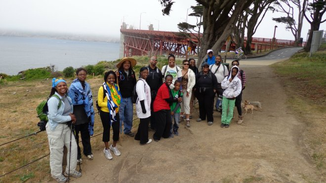 Hiking in San Francisco, in the Golden Gate National Recreation Area