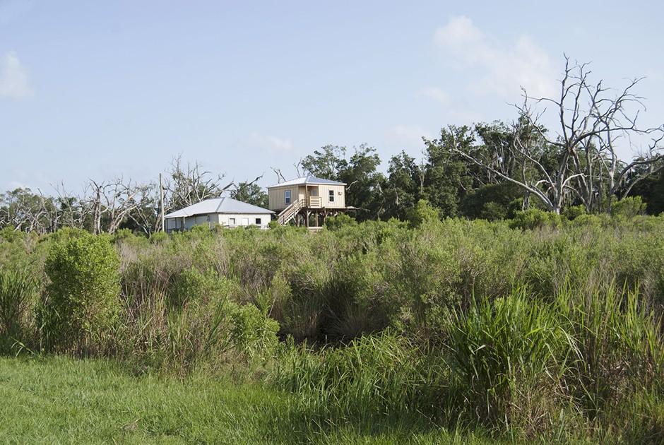 Raised home on Highway 46, Saint Bernard Parish, Louisiana.