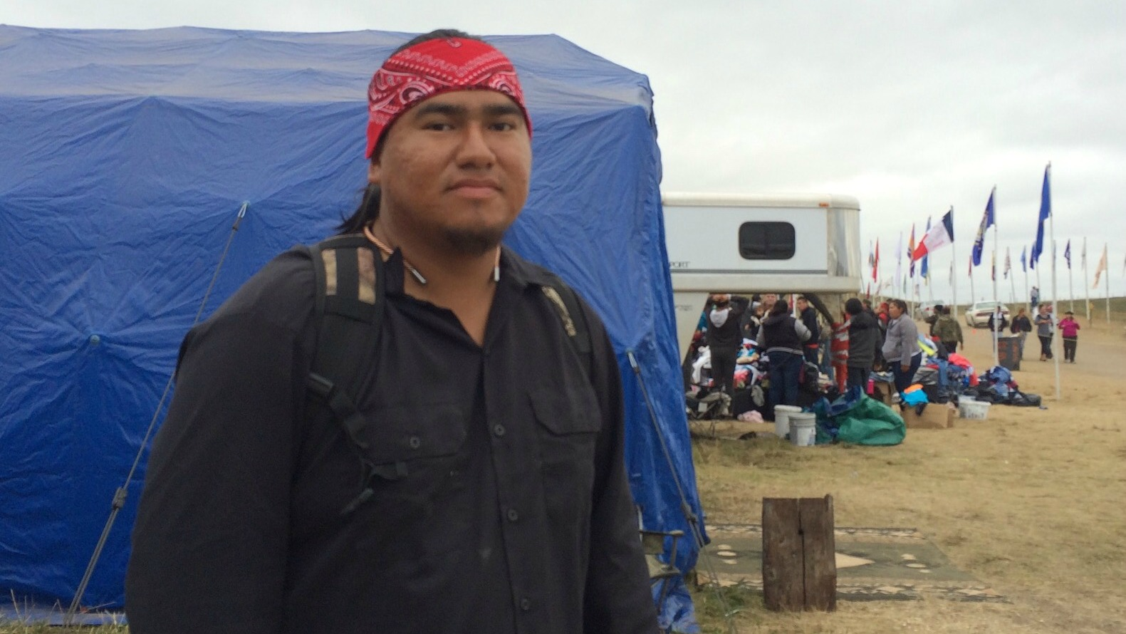 "Dale American Horse, Jr., 26, locked himself to construction equipment on August 31, putting his ""body on the line"" to block Dakota Access."