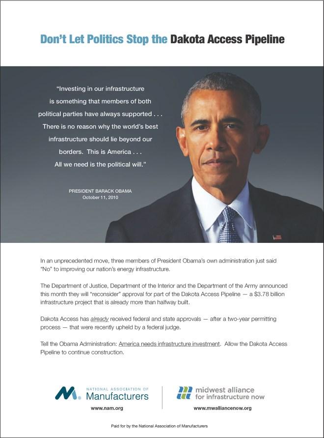 obama quote dakota pipeline