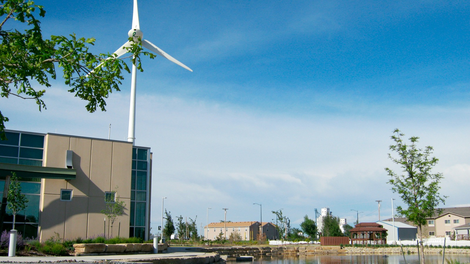 Greensburg's hospital has its own wind turbine.