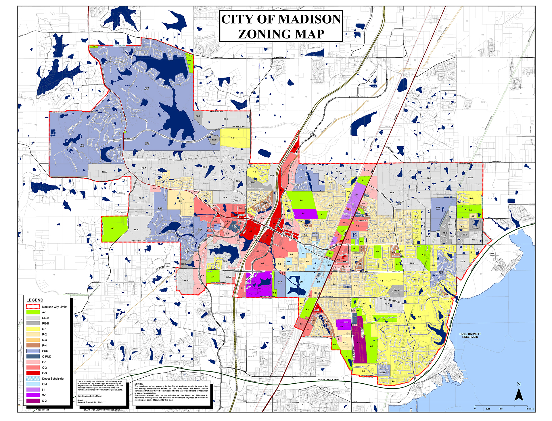 zoning map Madison Mississippi