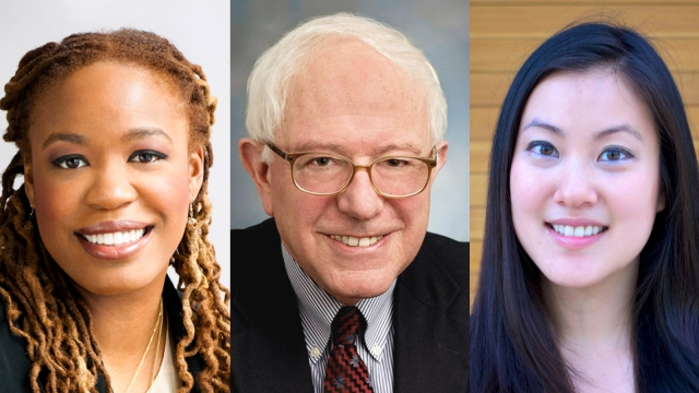 Heather McGhee, Bernie Sanders, and Angel Hsu