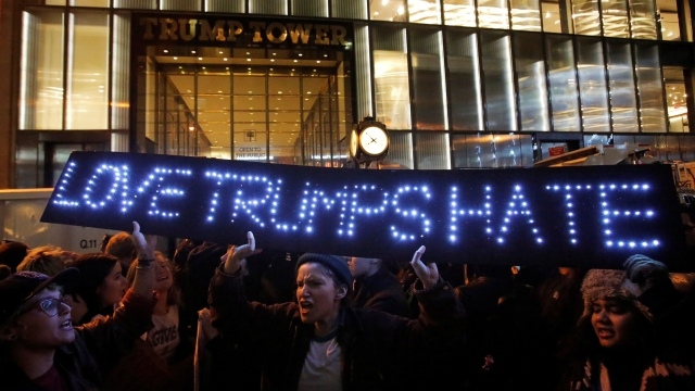 Protest outside Trump Tower