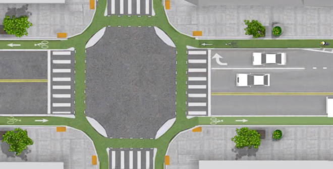 dutch-bicycle-intersection