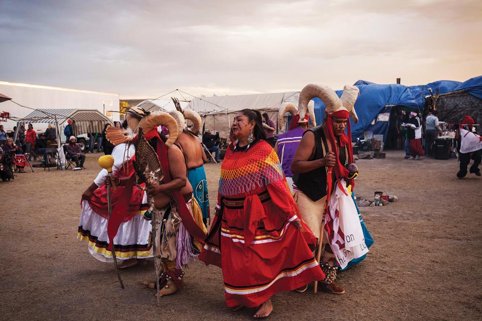 Dakota Access Native people tribe dancing
