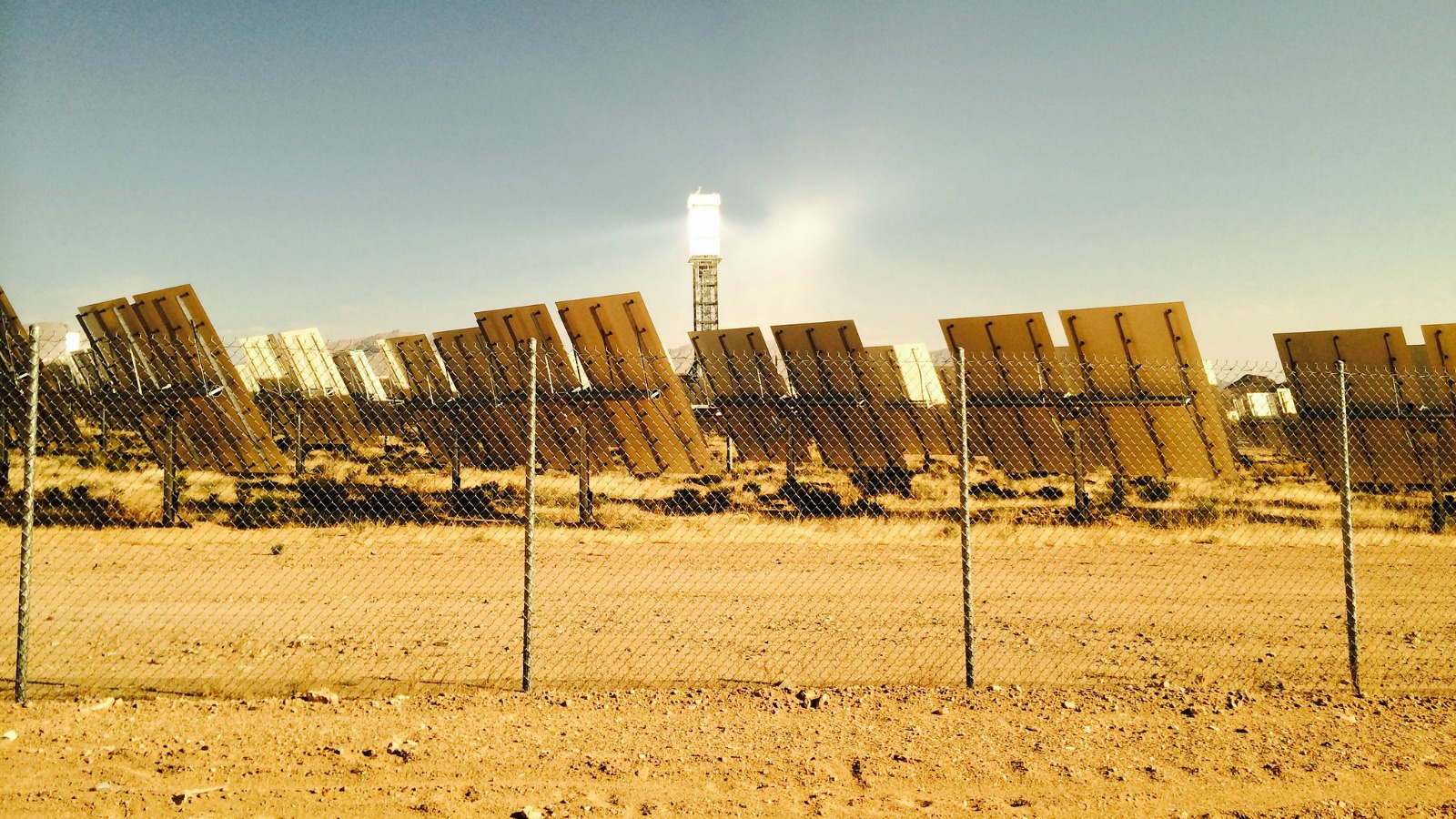 A solar power project built in the Nevada desert to help utilities comply with California's renewable energy rules.