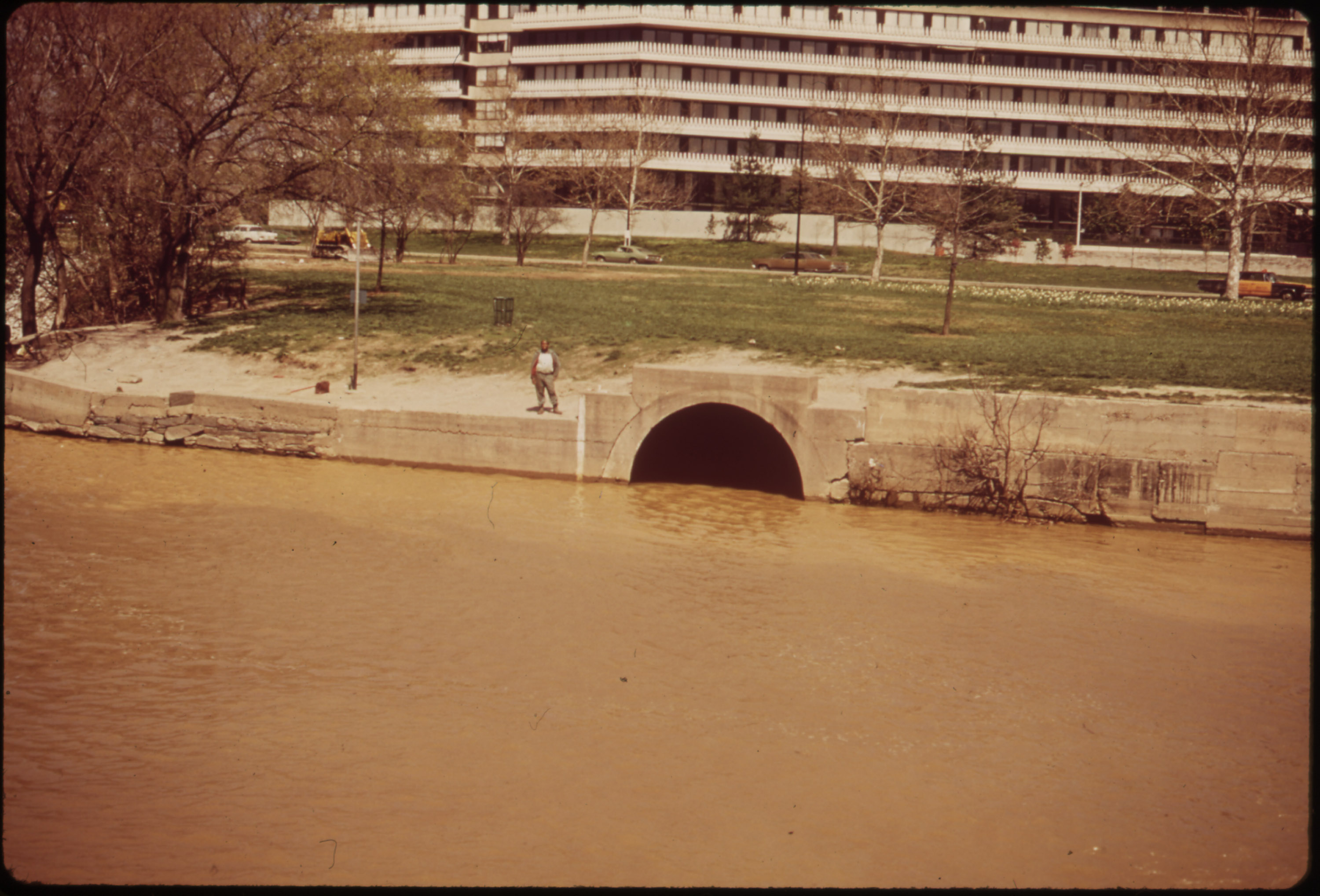 The Georgetown Gap through which raw sewage flowed into the Potomac River.