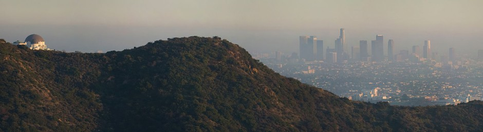 Los Angeles from the Hollywood Sign in 2005.