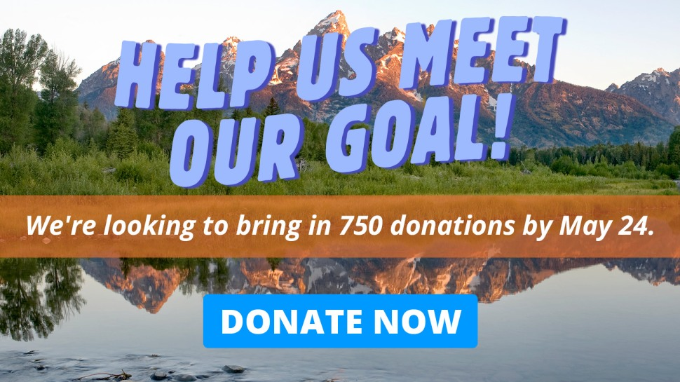 Help us meet our goal! We're looking to bring in 750 donations by May 24. Donate now.