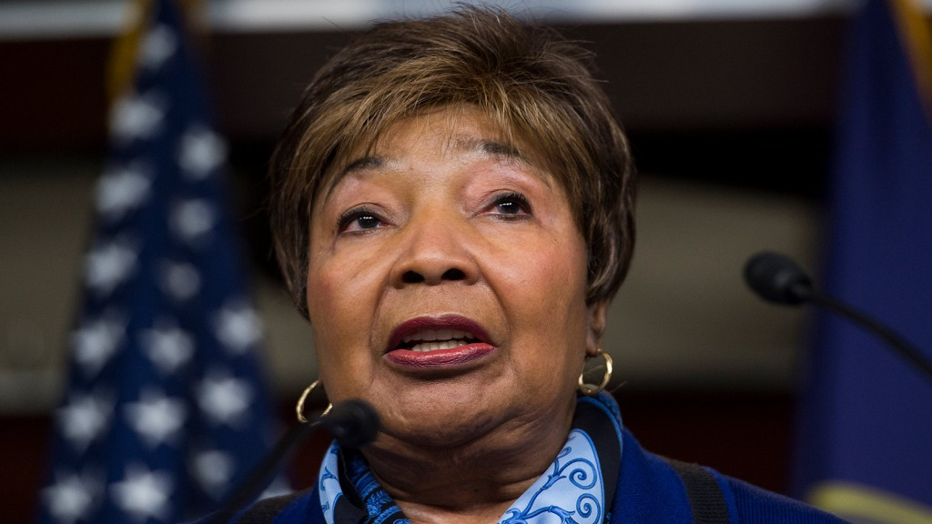Rep. Eddie Bernice Johnson, D-Texas, participates in the House Democrats' news conference on the Republican budget on Wednesday, April 9, 2014.