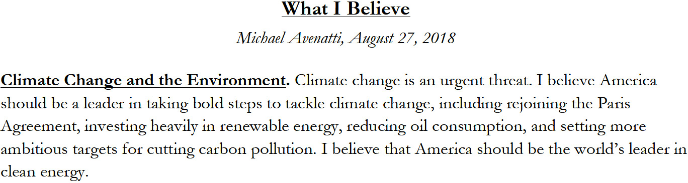 Michael Avenatti: What I Believe