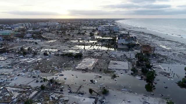 Damage from Hurricane Michael is seen in Mexico Beach, Fla. on Thursday, Oct. 11, 2018.