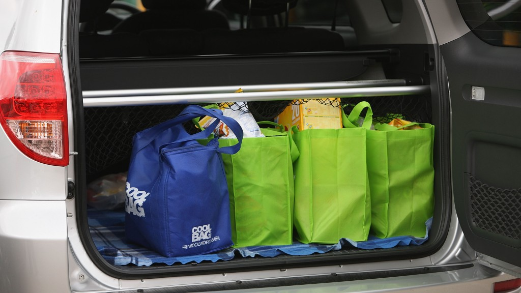 Environmental shopping bags are seen at the Thebarton Foodland in Adelaide, Australia. South Australia has now implemented a state wide ban on retailers providing customers with plastic bags forcing them to find an alternative.