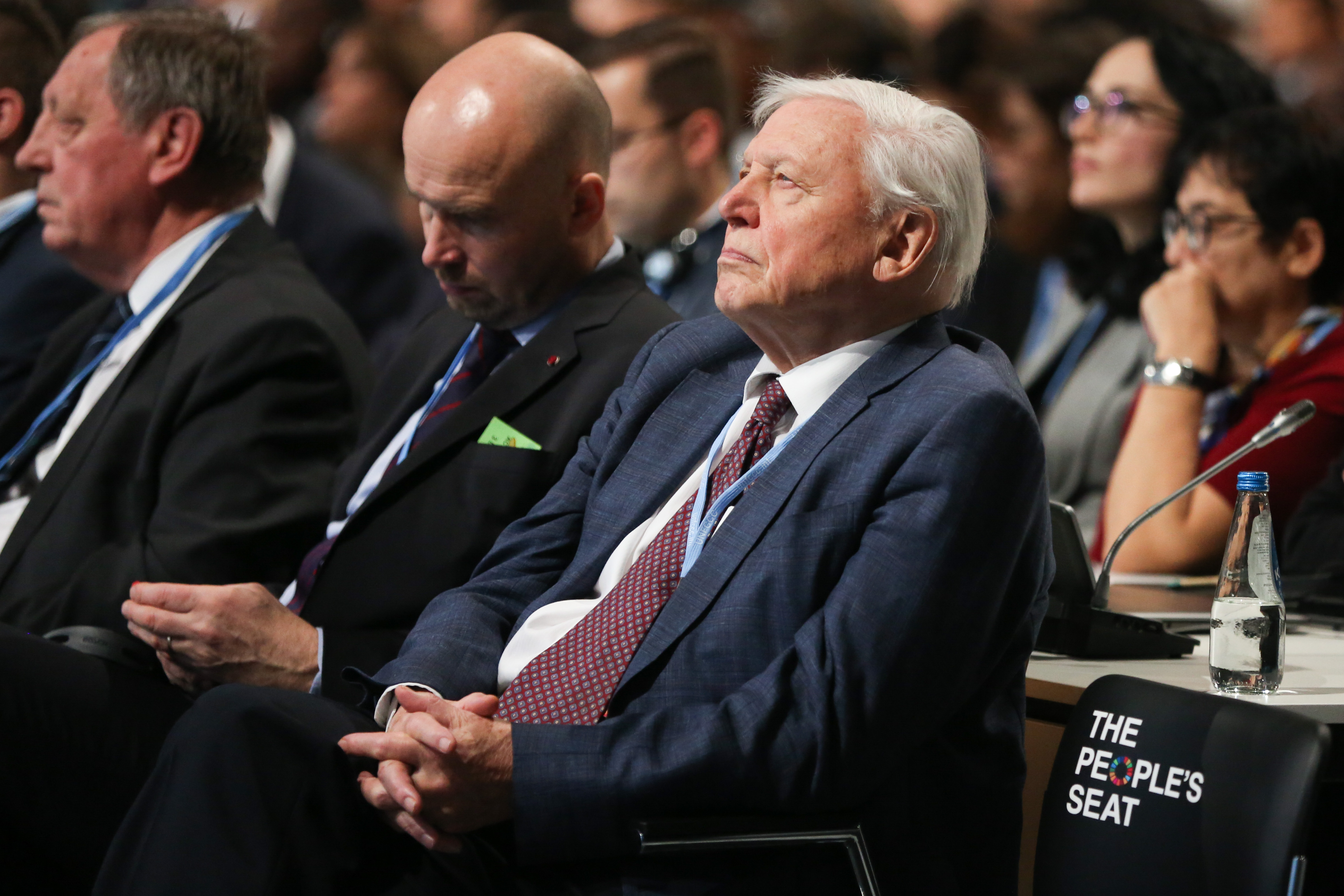 Sir David Attenborough during the opening ceremony of COP24