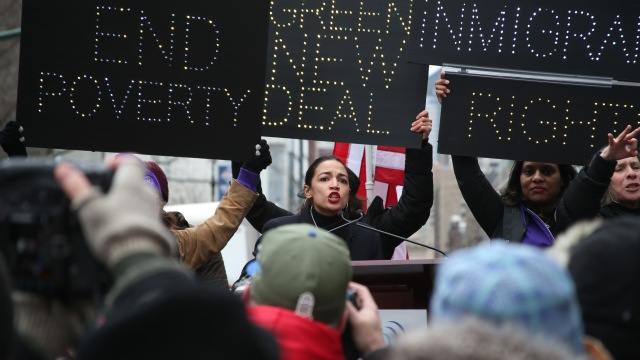 Alexandria Ocasio-Cortez at the Women's March in New York City.
