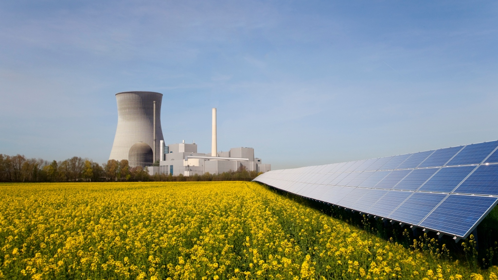 Solar plant and atomic power station