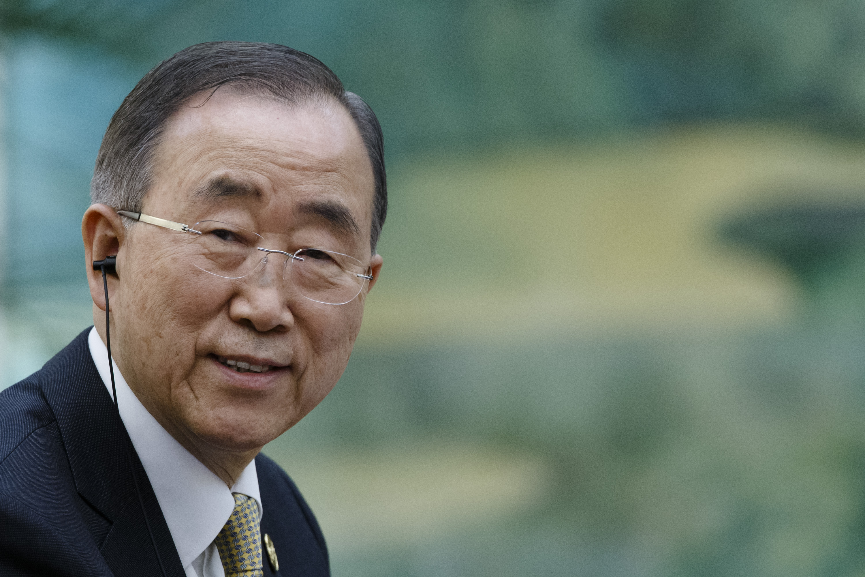Former UN Secretary-General Ban Ki-Moon pictured at a meeting in Beijing, China.