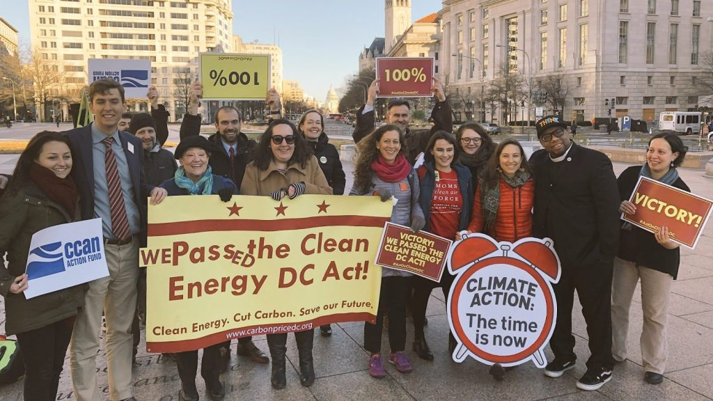 Reverend Yearwood with members of the DC Climate Coalition
