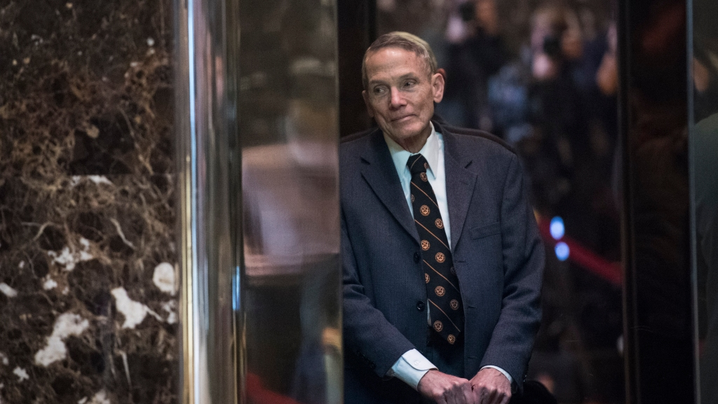 Physicist William Happer in the lobby of Trump Tower in New York.