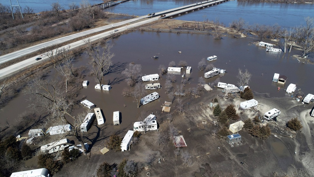 Platte River flooding in Plattsmouth, Neb., south of Omaha
