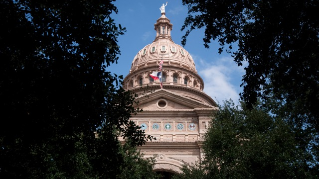 Texas State Capitol building in Austin, Texas.