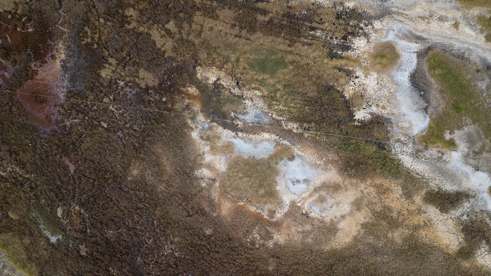 An aerial view of San Bernardino International Airport