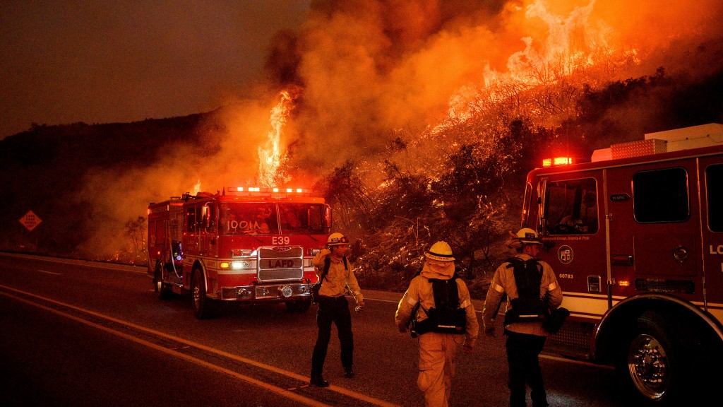 fire in Los Padres National Forest