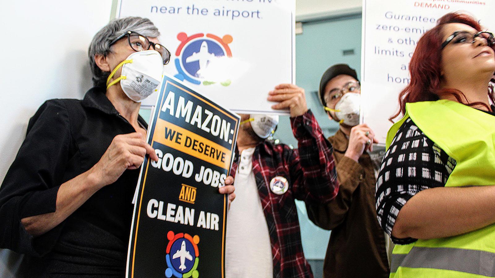 San Bernardino Airport Protest