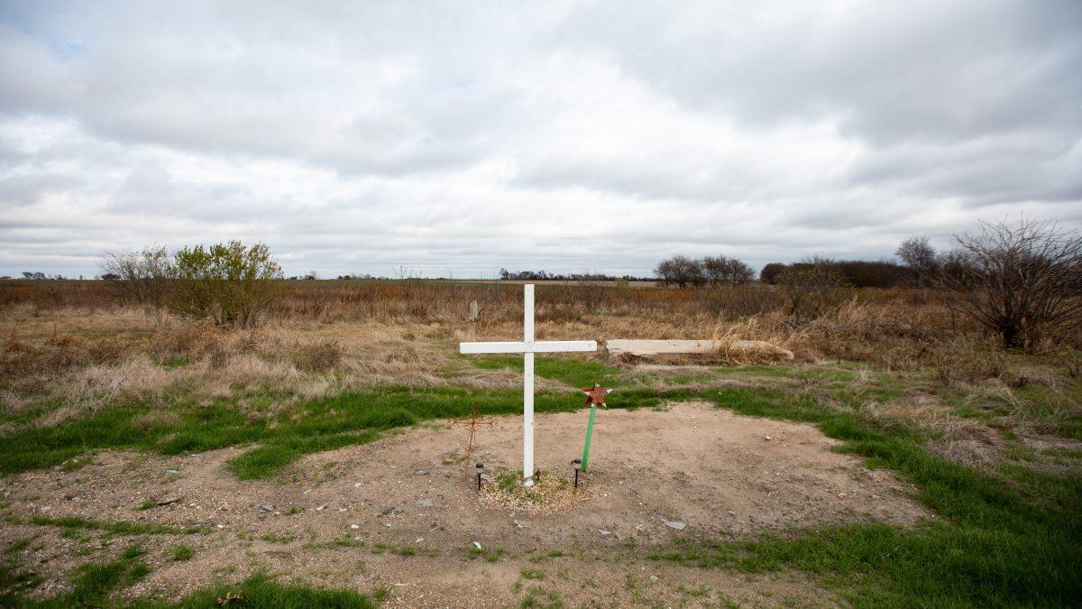 Cross at West Fertilizer site
