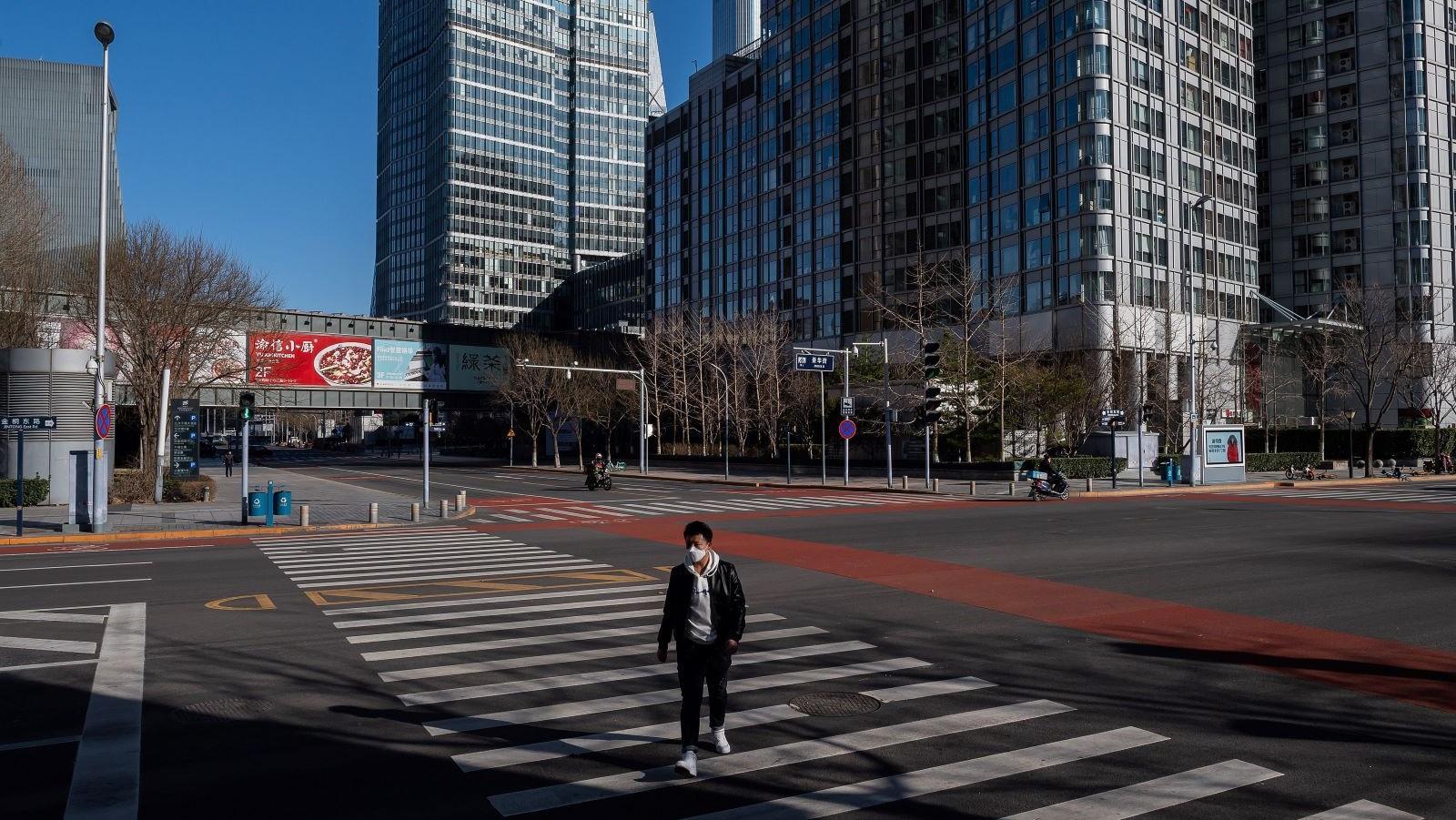 Beijing man walking coronavirus