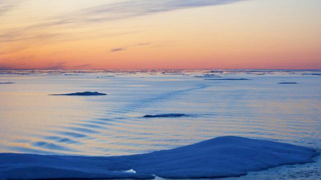Sea Ice, Northwest Passage, Nunavut, Arctic Canada.