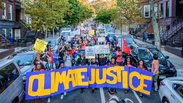 Activist group Earth Strike NYC announced a radical frontline coalition gathering in Sunset Park to support UPROSE in its campaign for local community-led climate justice