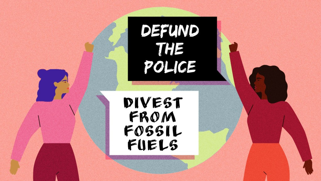 Environmental justice protest illustration