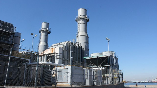 A peaker power plant