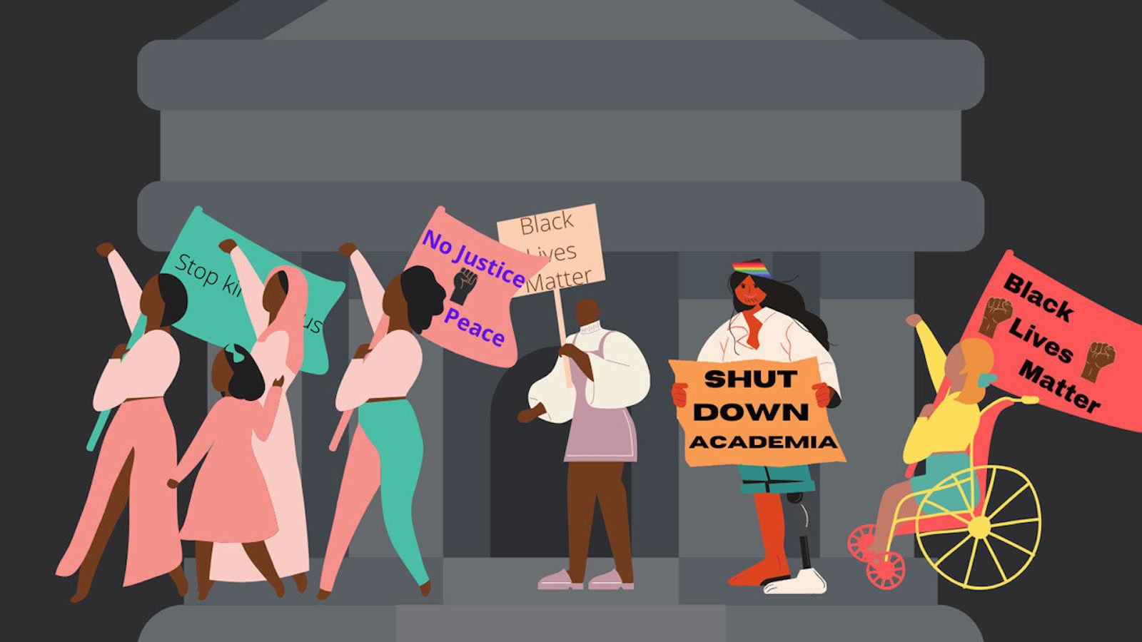 #ShutDownAcademia Graphic