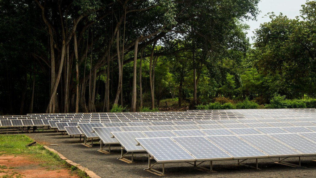 Solar Panels in Auroville, India