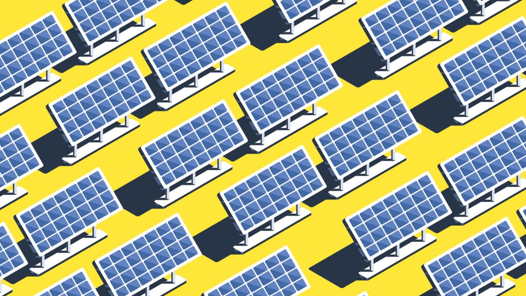 Solar panels in a grid pattern
