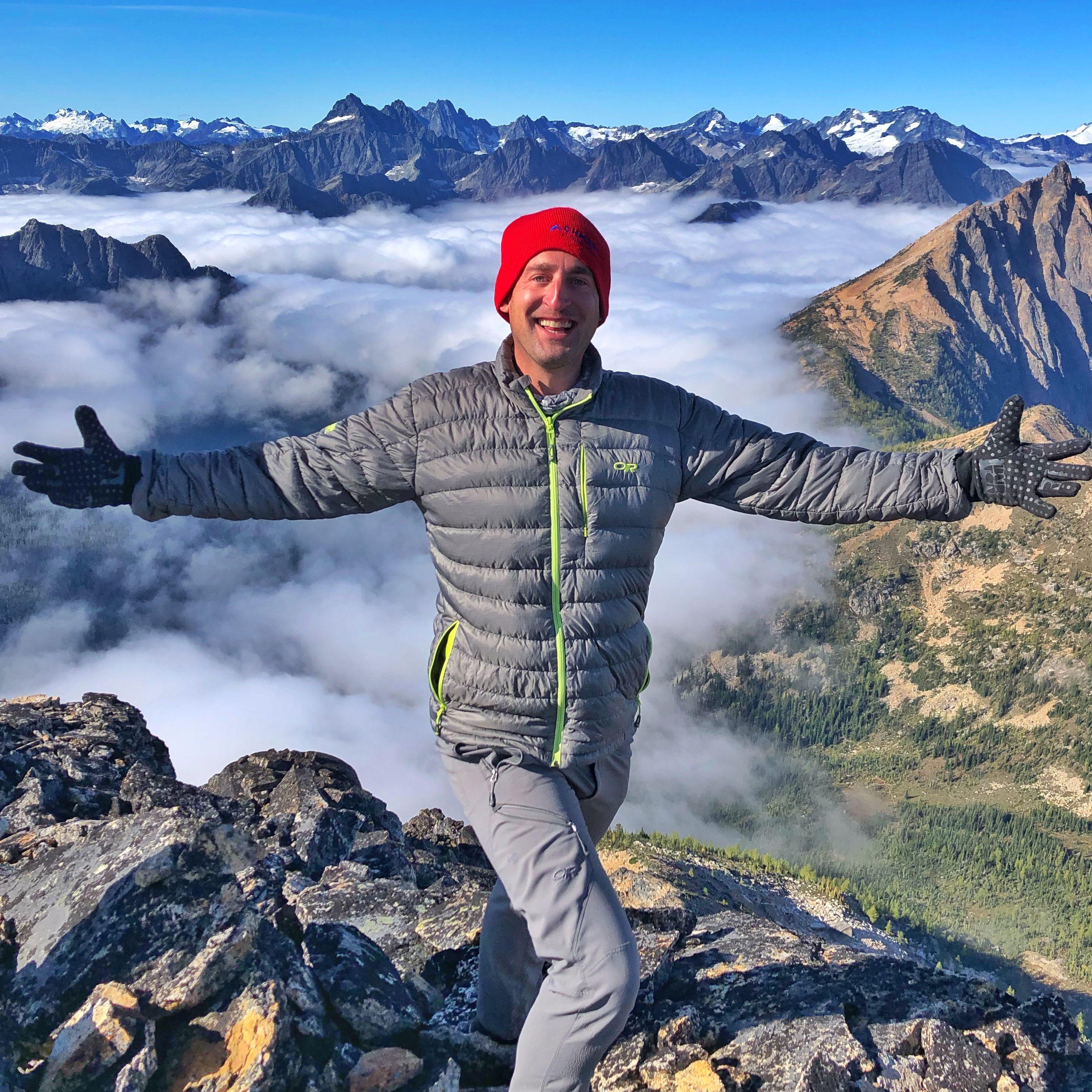 Lance Garland summits Tower Mountain
