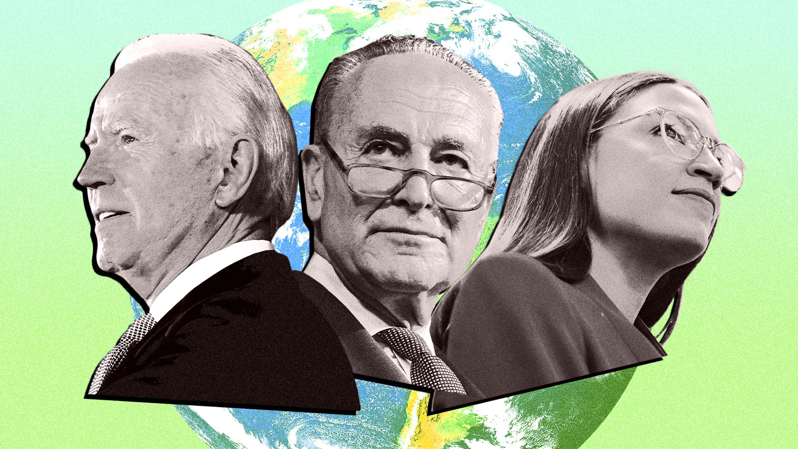 Joe Biden, Chuck Schumer, and Alexandria Ocasio-Cortez are among those pushing for climate plans that may require getting rid of the filibuster.