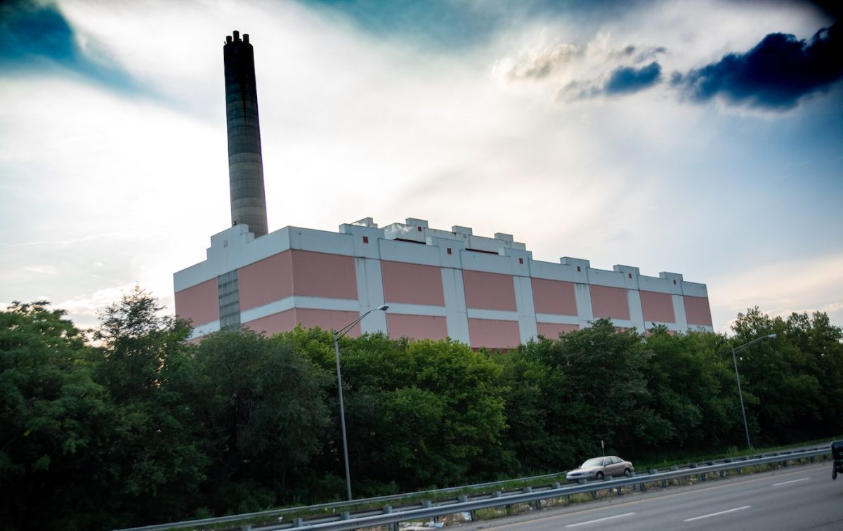 photo taken of covanta waste incineration facility in Camden, New Jersey
