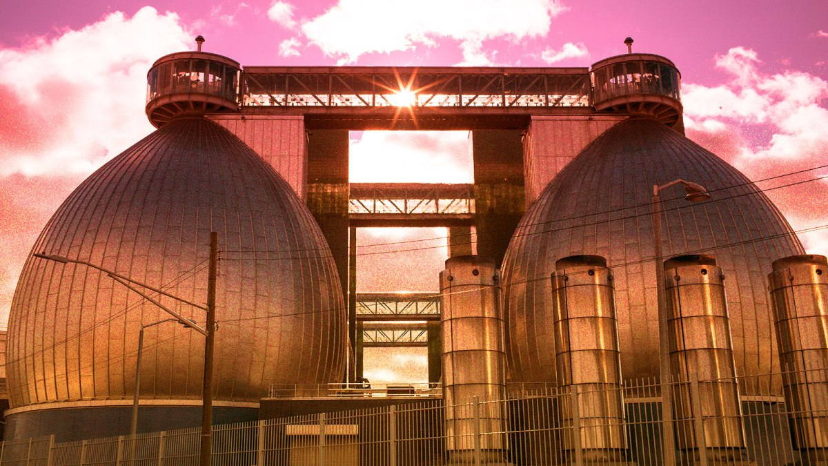 photo of exterior of Newtown Creek Wastewater Treatment Plant