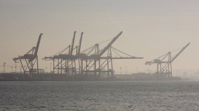 Smoky seattle waterfront